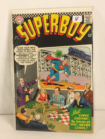 Collector Vintage DC, Comics Superboy Meet Lucky Lucifer The gambler Who Never Loses #140