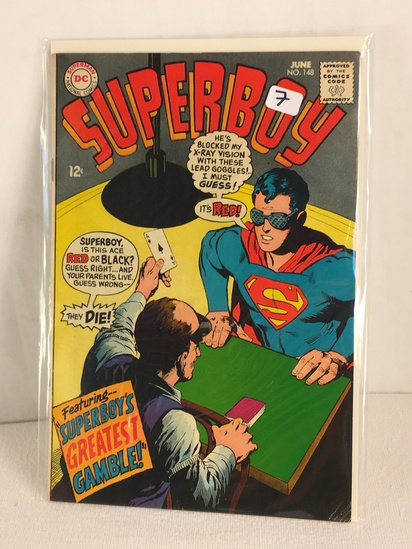 Collector Vintage DC, Comics Superboy Featuring Superboys Greatest Gamble Comic Book #148