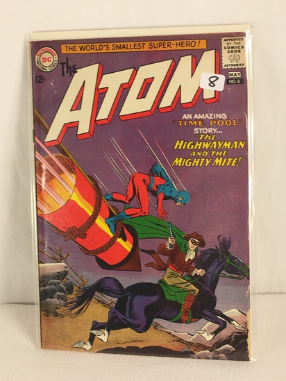 Collector Vintage DC, Comics The ATOM an Amazing Time Pool Comic Book NO.6