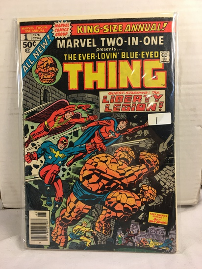 Collector Vintage  Comics King-Size Annual Marvet two-In-One The Thing Comic Book No.1