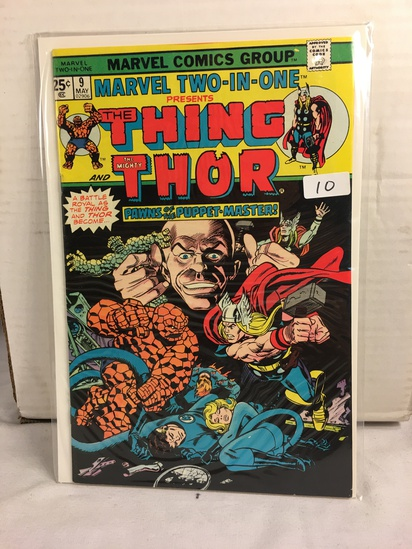 Collector Vintage Marvel Two-In-One  The Thing and The mighty Thor Comic Book No.9