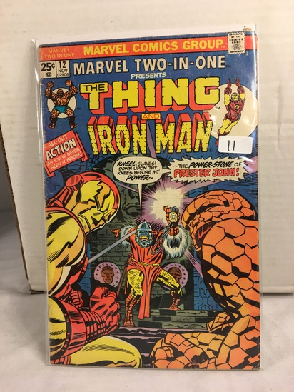 Collector Vintage Marvel Two-In-One The Thing and The Iron Man Comic Book No.12