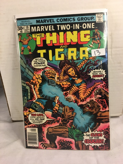 Collector Vintage Marvel Two-In-One  The Thing and The Tigra Comic Book No.19