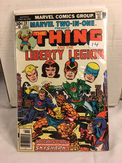 Collector Vintage Marvel Two-In-One  The Thing and The Liberty Legion Comic Book No.20