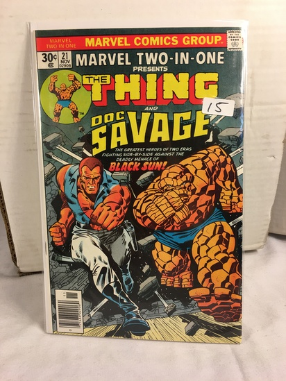 Collector Vintage Marvel Two-In-One The Thing and Doc Savage Comic Book No.21