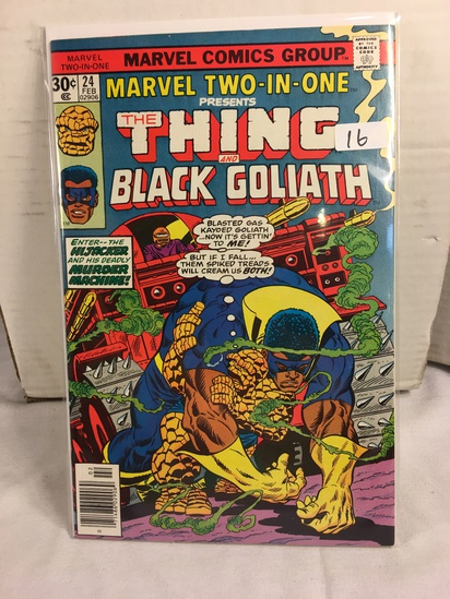 Collector Vintage Marvel Two-In-One The Thing and Black Goliath Comic Book No.24