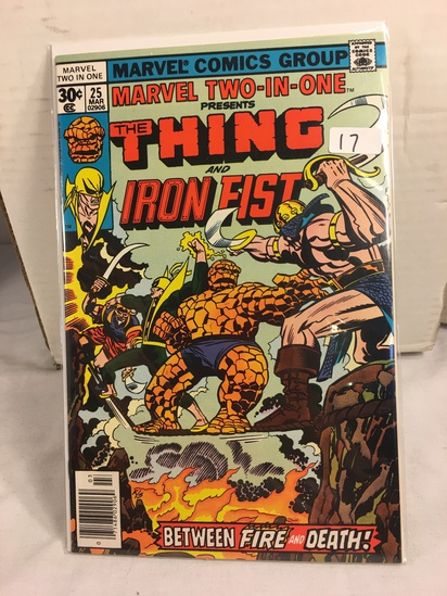 Collector Vintage Marvel Two-In-One The Thing and Iron Fist Comic Book No.25
