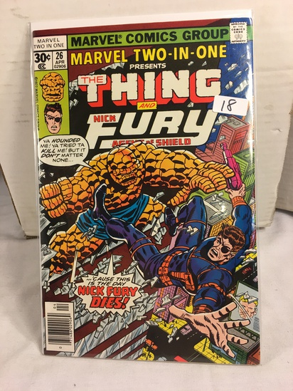 Collector Vintage Marvel Two-In-One  The Thing and Nick Fury Agent of Shield Comic #26