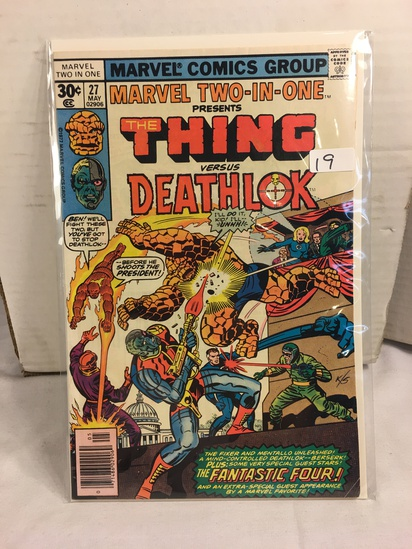 Collector Vintage Marvel Two-In-One The Thing and Deathlok Comic Book No.27