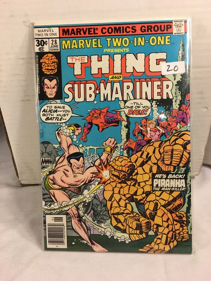 Collector Vintage Marvel Two-In-One The Thing and Sub-Mariner Comic Book No.28