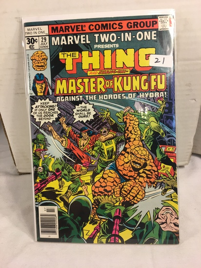 Collector Vintage Marvel Two-In-One  The Thing and Master Of Kung Fu Comic Book No.29