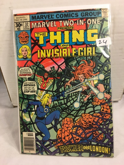 Collector Vintage Marvel Two-In-One  The Thing and Invisible Girl Comic Book No.32