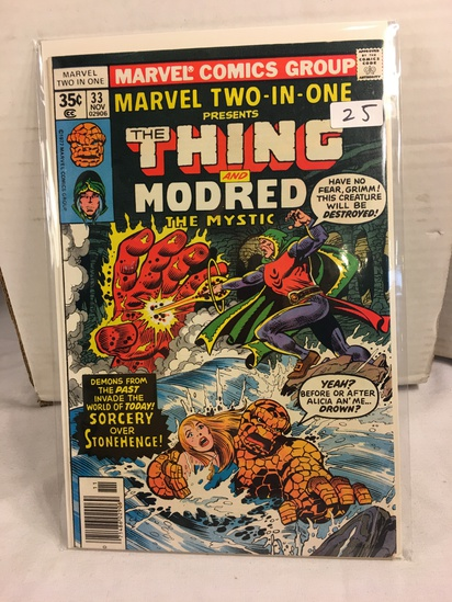 Collector Vintage Marvel Two-In-One The Thing and Modred The Mystic Comic Book No.33