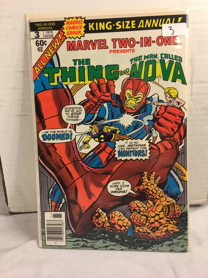 Collector Vintage  Comics King-Size Annual Marvet two-In-One The Thing Comic Book No.3