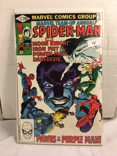 Collector Vintage Marvel Team-up Annual Spider-man & Moon Knight Comic Book No.4