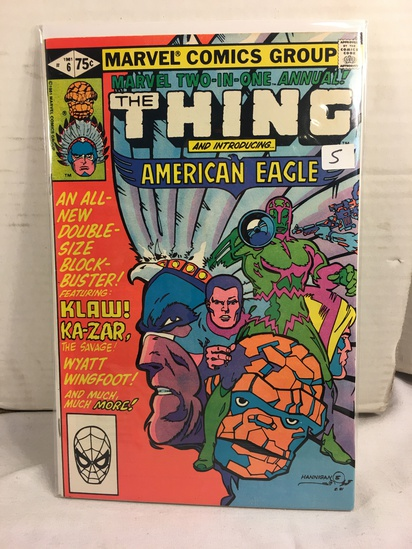Collector Vintage Marvel Two-In-One The Thing and American Eagle Comic Book No.6