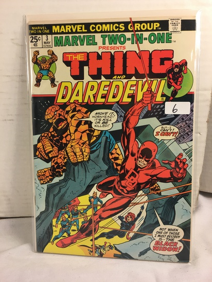 Collector Vintage Marvel  Two-In-One The Thing and Daredevil Comic Book No.3