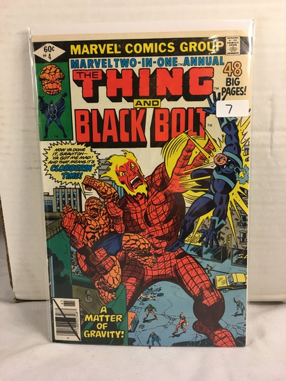 Collector Vintage Marvel Two-In-One The Thing and Black Bolt Comic Book No.4