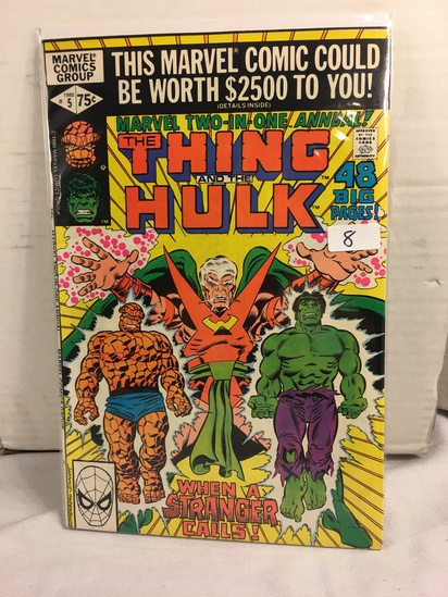 Collector Vintage Marvel Two-In-One The Thing and The Hulk Comic Book No.5