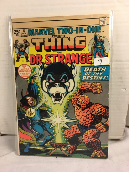 Collector Vintage Marvel Two-In-One  The Thing and DR. Strange Comic Book No.6