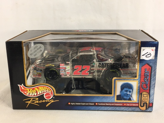 Collector Nascar Hot wheels Mattel Racing Select Clear #22 Caterpillar 1/24 Scale