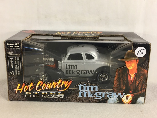 Collector Racing Champions Hot Country Steel DieCast Tim McGraw Issue #28 Signed 1:24 SC