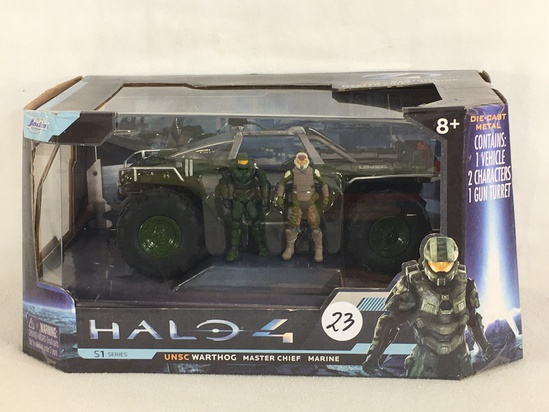 Collector Jada Toys Halo 4 UNSC Warthog Master Chief Marine DieCast Metal