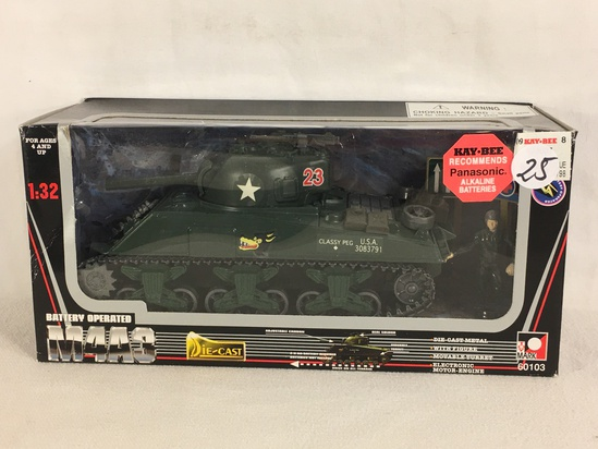 Collector Toy Mark Battery Operated M4A3 Scale 1/32 DieCast Metal 60103