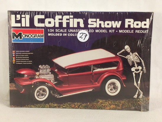 New Sealed Monogram L'il Coffin Show Rod 1/24 Scale Unssembled Model Kit