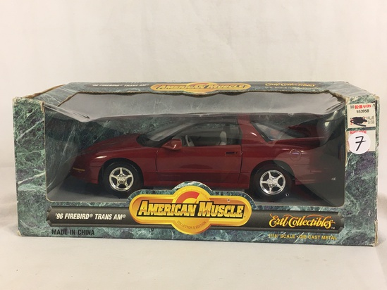 Collector ERTl American Muslce 1/18 Scale Die cast Metal '96 Firebird Trans AM
