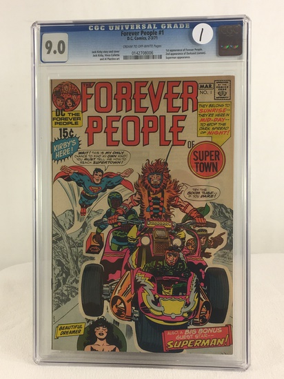 Collector Vintage CGC Universal Grade 9.0 Forever People #1 D.C. Comics 2-3/71