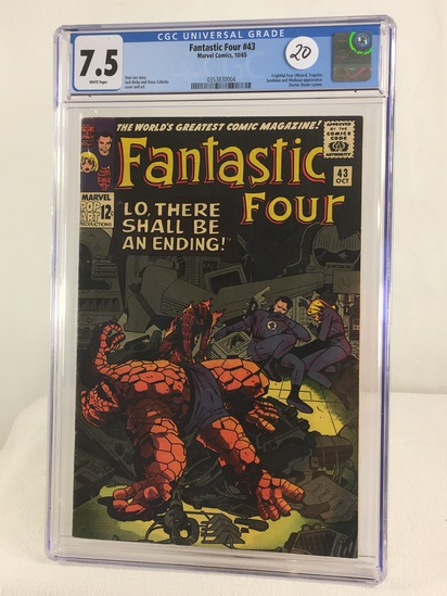 Collector Vintage CGC Universal Grade 7.5 Fantastic Four #43 Marvel Comics 10/65