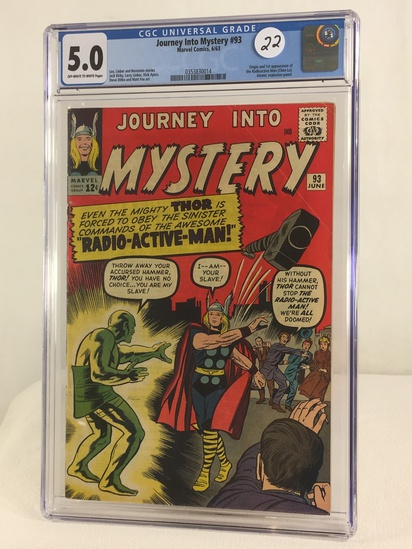 Collector Vintage CGC Universal Grade 5.0 Journey Into Mystery #93 Marvel Comics 6/63