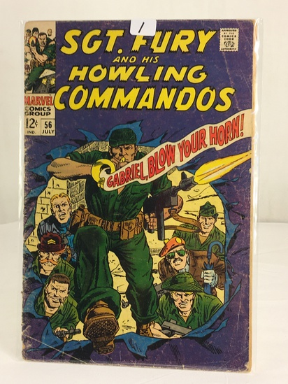 Collector Vintage Marvel Comics SGT. FURY and His Howling Commandos Comic Book #56
