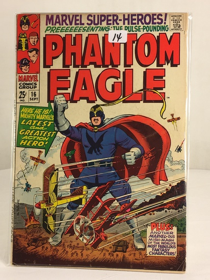 Collector Vintage Marvel Super-Heroes Presenting The Phantom Eagle Comic Book No.16