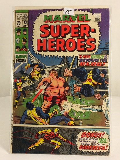 Collector Vintage Marvel Comics Marvel Super Heroes Comic Book No.22