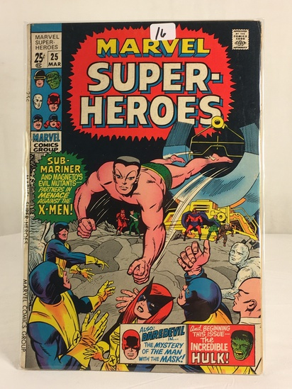 Collector Vintage Marvel Comics Marvel Super Heroes Comic Book No.25