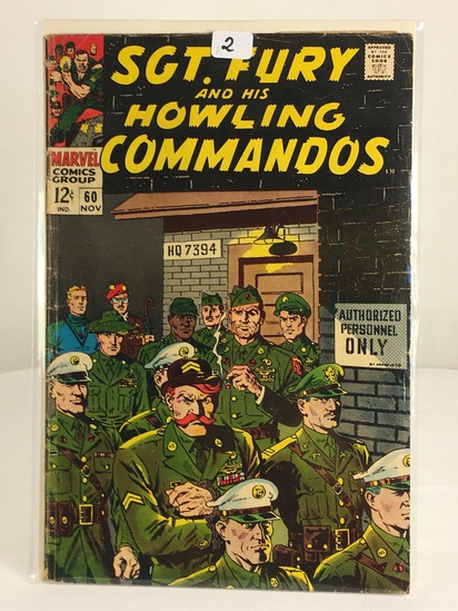 Collector Vintage Marvel Comics SGT. FURY and His Howling Commandos Comic Book #60