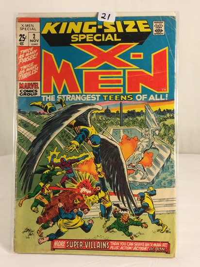 Collector Vintage Marvel Comics King-Size Special X-Men Comic Book No.2