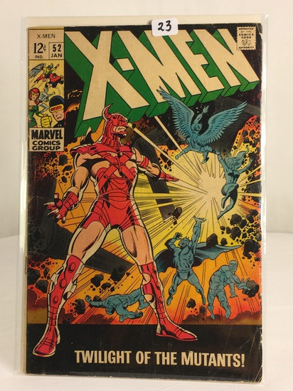 Collector Vintage Marvel Comics X-Men Comic Book No.52