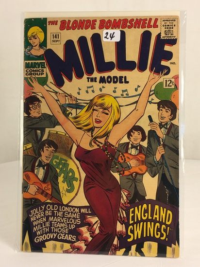 Collector Vintage Marvel Comics The Blonde Bombshell Millie the Model Comic Book No.141
