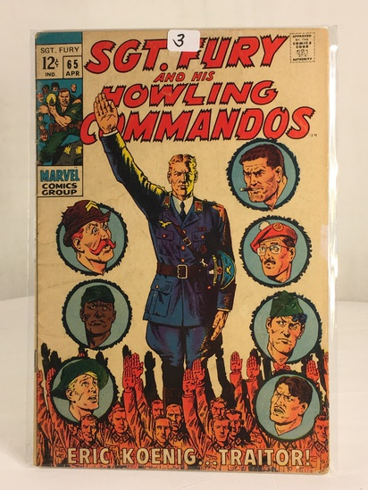 Collector Vintage Marvel Comics SGT. FURY and His Howling Commandos Comic Book #65