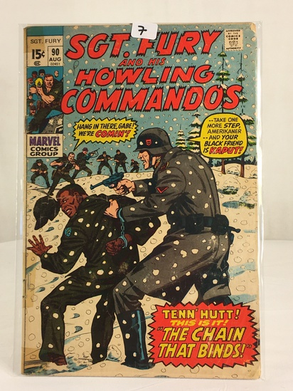 Collector Vintage Marvel Comics SGT. FURY and His Howling Commandos Comic Book #90