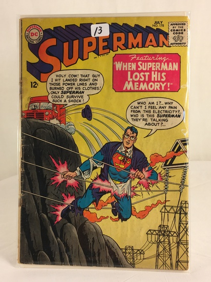 Vintage DC Superman National Comics Superman Lost His Memory Comic No.178