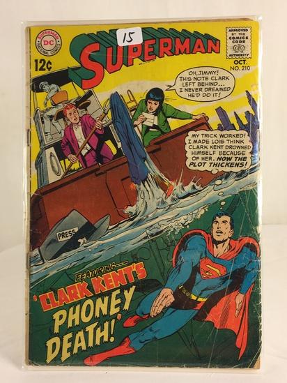Vintage DC Superman National Comics Superman ft. Clark Kent Phoney Death No.210