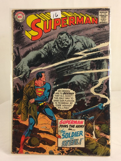 Vintage DC Superman National Comics Superman Joins the Army Comic No.216