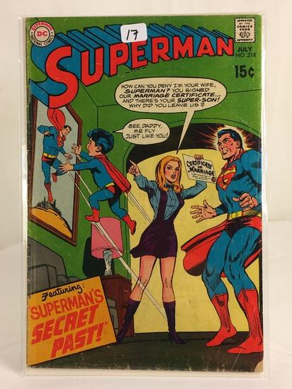 Vintage DC Superman National Comics Superman ft. Superman's Secret Past No.218