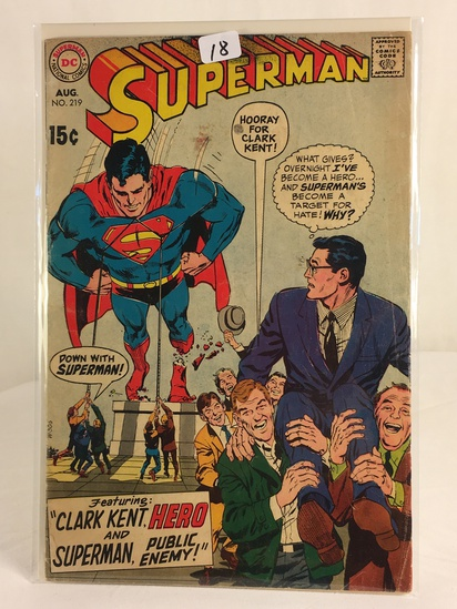 Vintage DC Superman National Comics Superman & Clark Kent, Hero Comic No. 219
