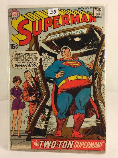 Vintage DC Superman National Comics Superman ft. the Two-Ton Superman No.221