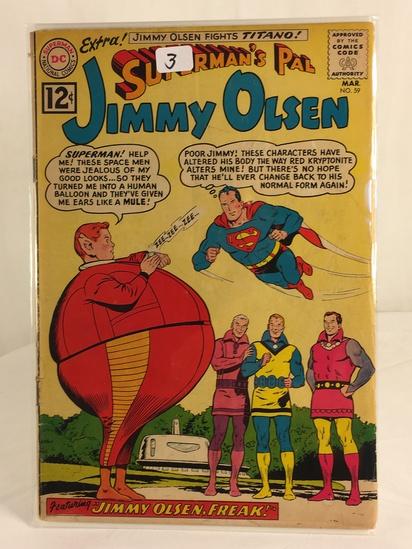 Vintage DC Superman National Comics Superman's Pal Jimmy Olsen Comic No.59